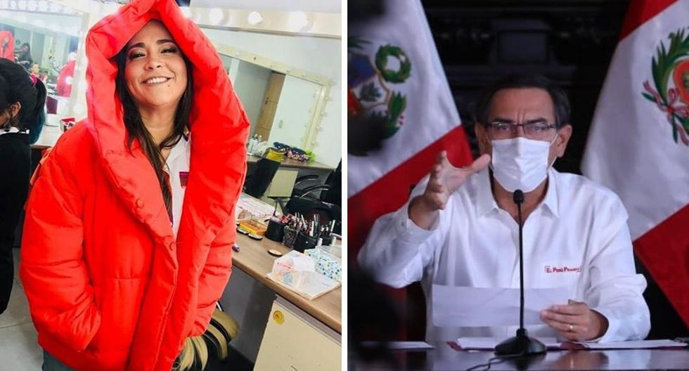 La actriz Katia Palma señaló no ser cercana a la política pero aplaudió las medidas de Martín Vizcarra.(@katiapalmam17 / GEC)