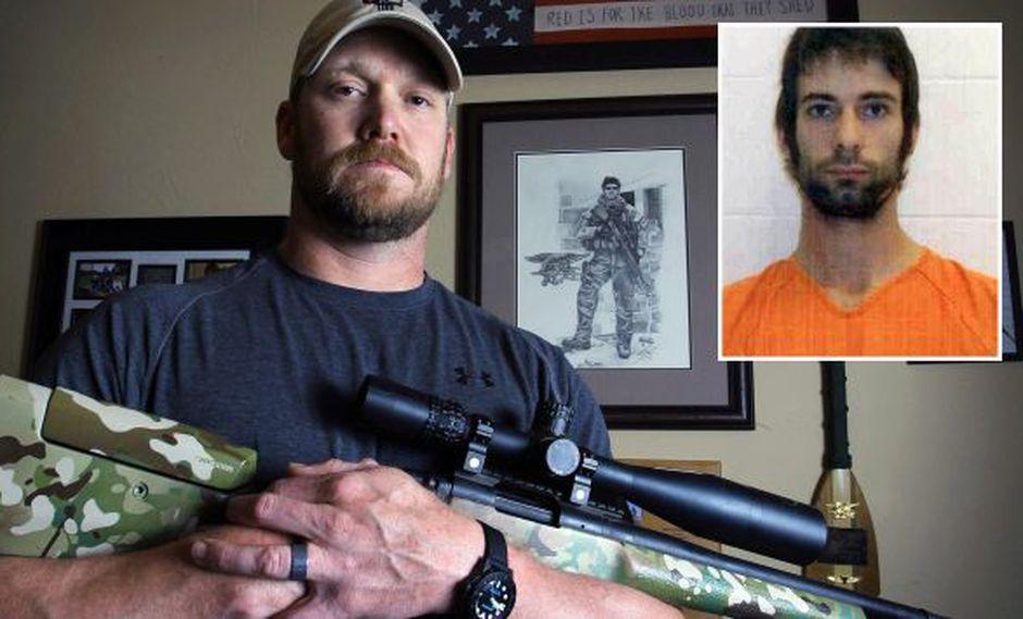 Kyle y su asesino de 25 años. (AP)