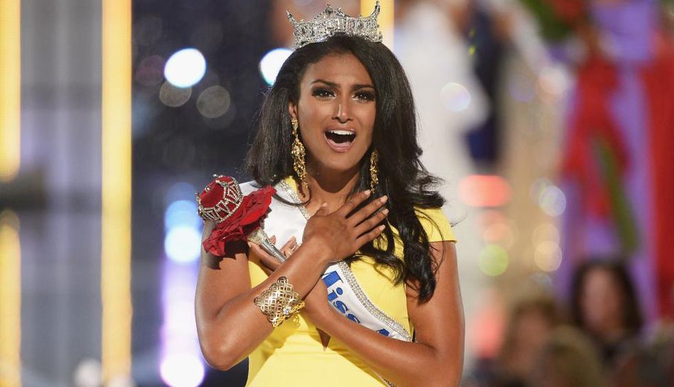 Nina Davuluri, una neoyorquina de 24 años y religión hindú, fue elegida anoche Miss USA 2014. (AFP)