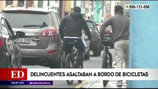 PNP captura a delincuentes que asaltaban a bordo de bicicletas