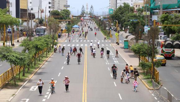 Retorna la iniciativa Vía Activa Brasil en el tramo correspondiente al distrito. (Foto: Municipalidad de Magdalena)