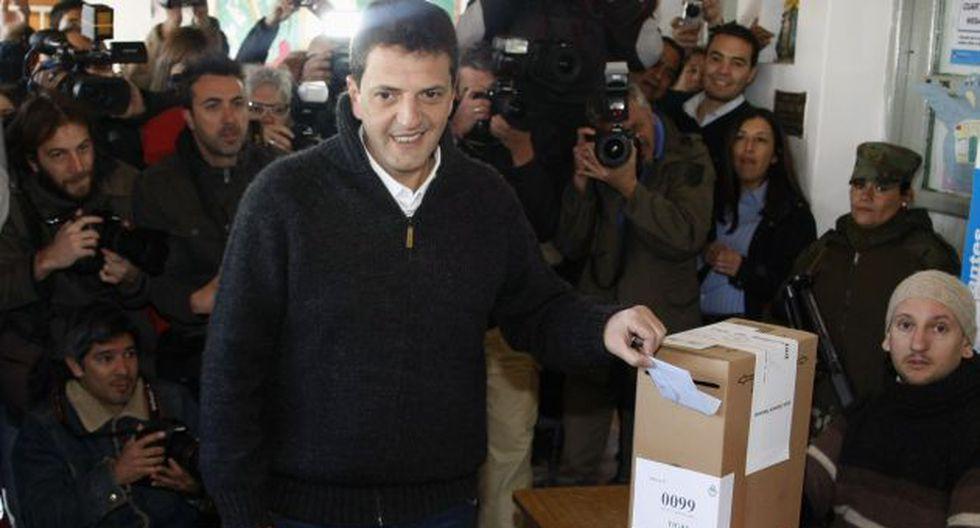 Sergio Massa votó hoy en una escuela pública. (Reuters)