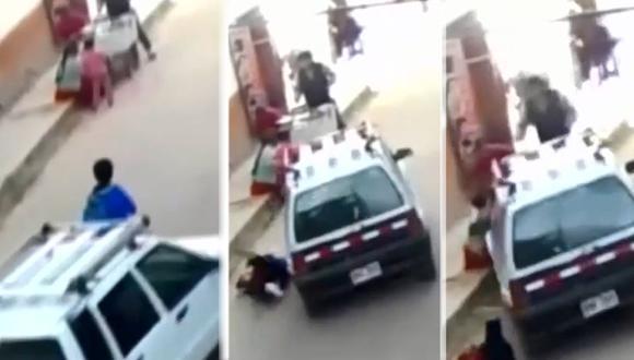 Una vendedora ambulante junto a su pequeña de 6 años terminaron inconscientes tras el accidente. (Foto: Latina)