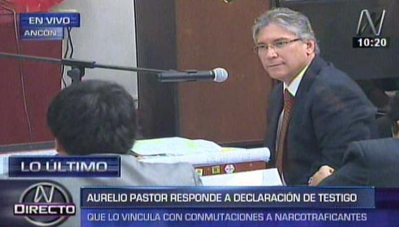 Aurelio Pastor declaró esta mañana durante juicio oral del caso 'Narcoindultos'. (Captura de TV)