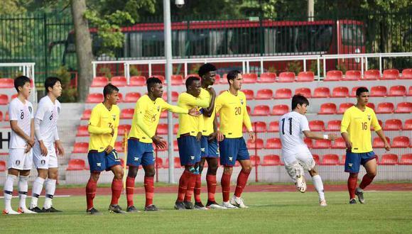 Ecuador vs. Japón se miden en el Mundial Sub 20. (Foto: @FEFecuador)