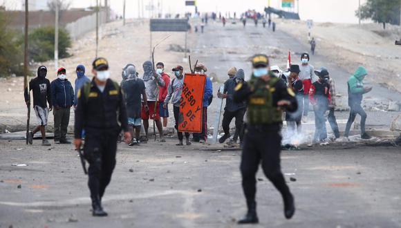 El paro agrario en Ica se saldó con una persona fallecida en cinco días de bloqueos y movilizaciones. (Foto: Hugo Curotto / GEC)
