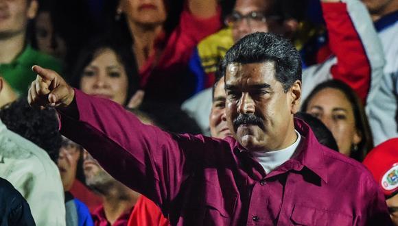 """Nicolás Maduro proclamó su reelección en Venezuela como un """"récord histórico"""". (AFP)"""