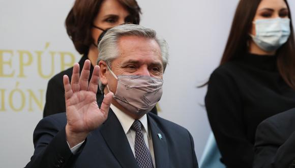 El presidente de Argentina, Alberto Fernández, aún espera los resultados del test PCR. (Foto: EFE)