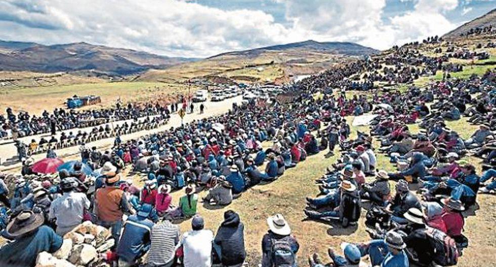 Comuneros decidirán si desbloquean las carreteras de acceso a la minera Las Bambas. (GEC)