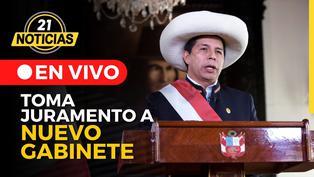 Pedro Castillo toma juramento al nuevo gabinete ministerial