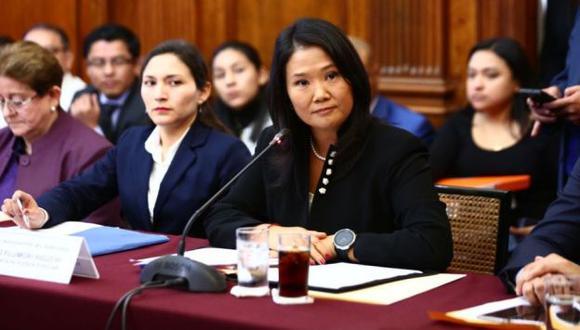 Keiko Fujimori declara ante la Comisión Lava Jato. (Twitter @congresoperu)