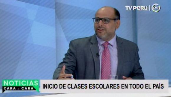 El ministro de Educación, Daniel Alfaro, afirmó que el Gobierno busca mejorar los salarios de los profesores. (TV Perú)