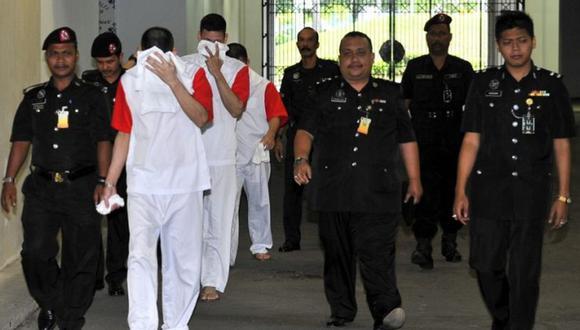 El 4 de marzo del 2008, los hermanos Simón, Luis Alfonso y José Regino González Villarreal, originarios del estado de Sinaloa, fueron detenidos en el estado de Johor.   Foto: AFP / Archivo