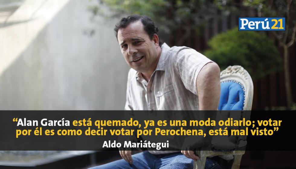 Aldo Mariátegui y Luis Davelouis analizan el panorama a una semana de las elecciones. (Anthony Niño de Guzmán)