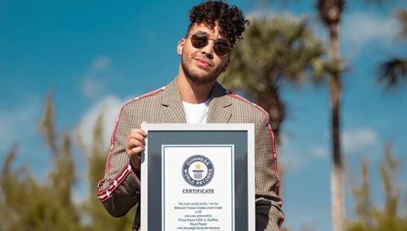 """Prince Royce: """"Jamás imaginé que podría recibir un récord Guinness"""". (Foto: @princeroyce)"""