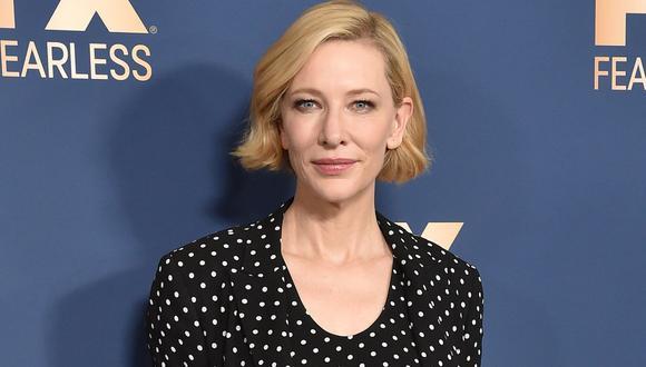 """Cate Blanchett terminó con un """"pequeño corte en la cabeza"""" tras accidente con una motosierra. (Foto: AFP)"""