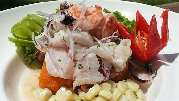 Cebiche a base de langostinos, pulpo, calamar y pescado. (Difusión)