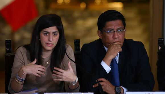 El premier Vicente Zeballos y la ministra de Economía, María Antonieta Alva, enfrentan procesos de interpelación en el Congreso. (Foto: GEC)