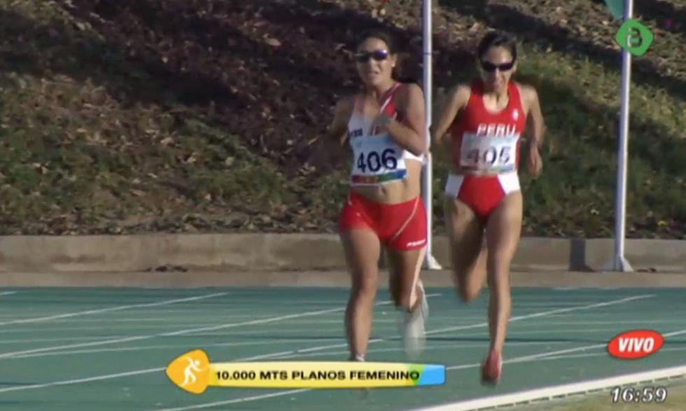 Las atletas peruanas Inés Melchor y Gladys Tejeda midieron sus fuerzos en prueba de 10 mil metros planos.
