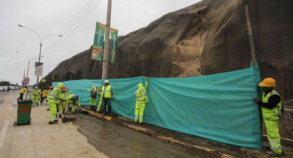 La Municipalidad de Lima se pronunció sobre el deslizamiento de piedras y tierras en el acantilado de la Costa Verde. (Difusión)