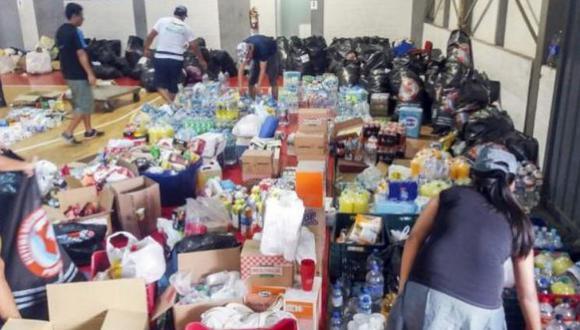 Ayuda a los damnificados del sur. (Foto: Referencial/Difusión)