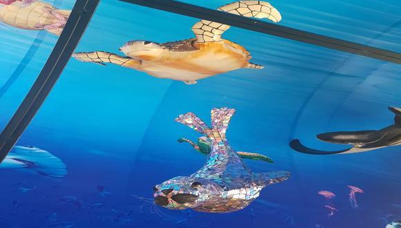 Abrieron el primer acuario hecho con material reciclado que busca crear conciencia sobre la contaminación de los mares. (Foto:Difusión).
