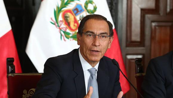 El presidente Martín Vizcarra se pronunció también por la situación del ministro Carlos Bruce. (Foto: GEC)