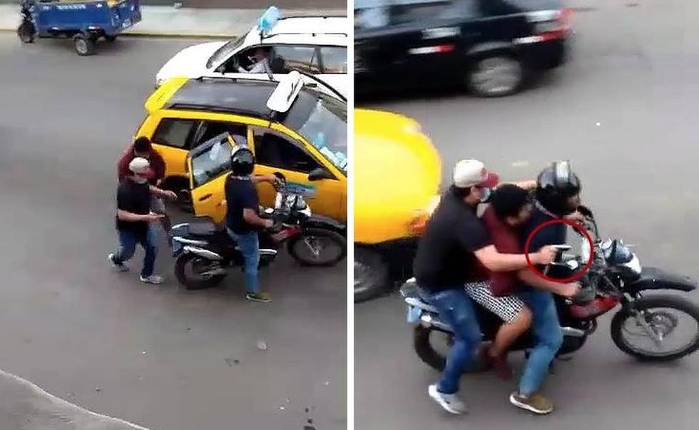 Transeúnte filmó el atracó con su celular y entregó la grabación a la Policía.