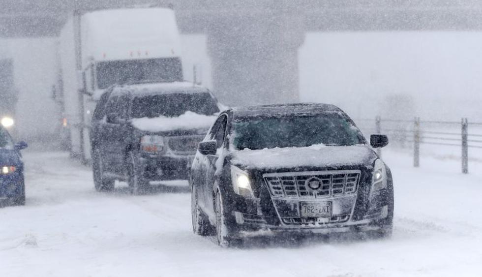 """""""Ciclón bomba"""" provoca cierre de carreteras en Colorado. (Foto: AP)"""