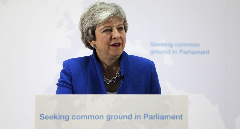 """El repetido rechazo del parlamento al acuerdo de divorcio con Bruselas empujó a May a aceptar un aplazamiento """"flexible"""" del Brexit. (Foto: EFE)"""