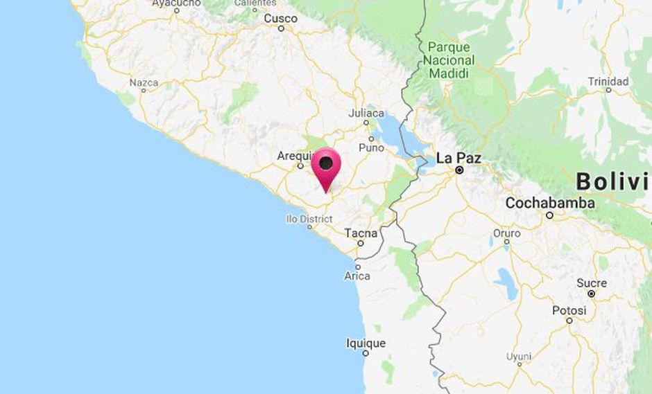 El sismo ocurrió a una profundidad de 34 km., reportó el IGP. (Captura: Hidrografía Perú)