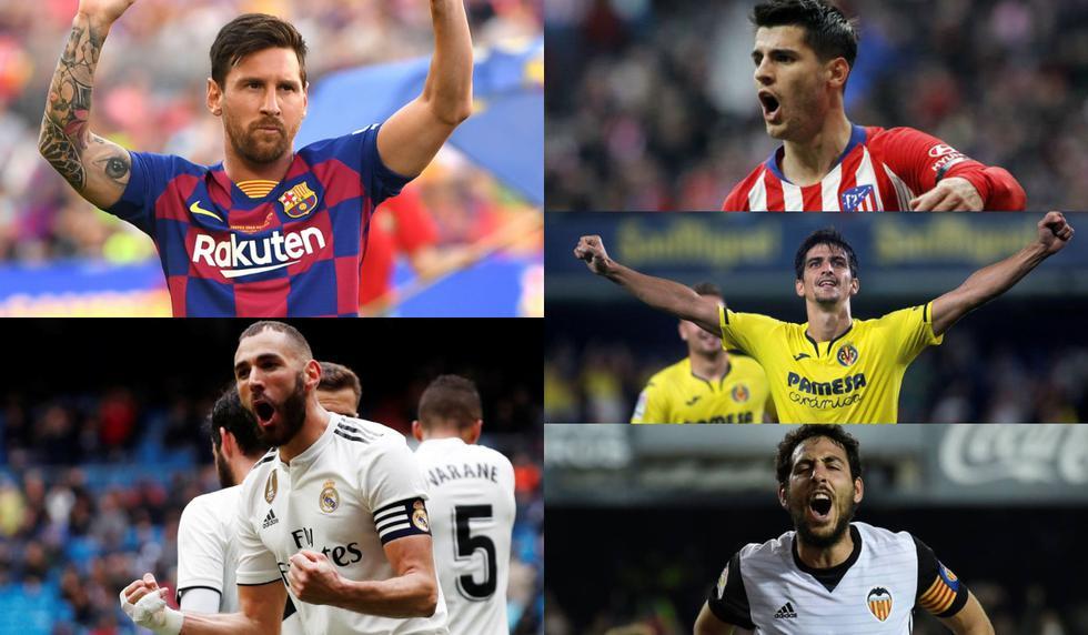 Con Messi al acecho de Benzema: Así va el top 20 de los máximos goleadores de LaLiga Santander 2019-20 [FOTOS]