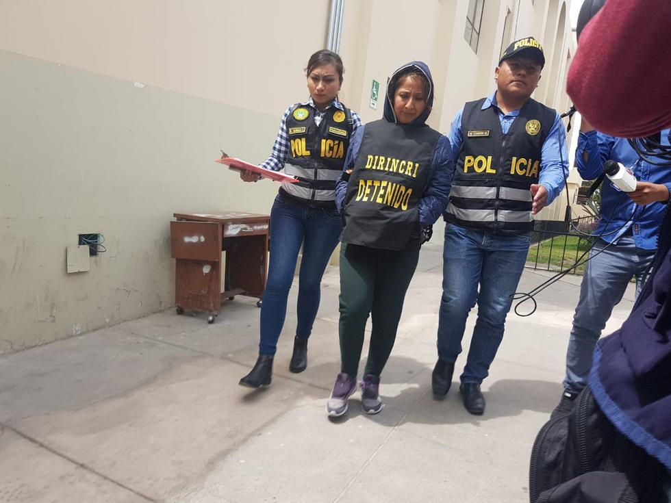Brenda Cama Viza era considerada por la Fiscalía como la 'jaladora' de la mafia de trata de personas.(Miguel Idme)