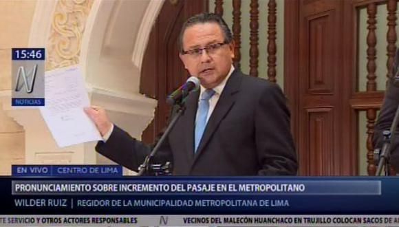 Wilder Ruiz reiteró sus críticas contra Jorge Muñoz. (Canal N)