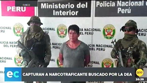 El sujeto es sindicado de ser cabecilla de una banda internacional dedicada al tráfico ilícito de drogas. (RPP Televisión)