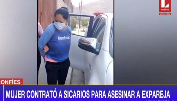 Miriam Pérez Huanca fue detenida por presuntamente haber organizado el asesinato de su expareja. (Latina)