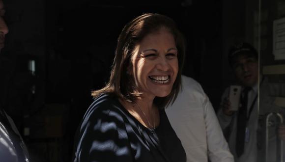 Lourdes Flores acudió el pasado martes a la Fiscalía para responder por aportes de Odebrecht a campañas políticas. (Renzo Salazar/GEC)