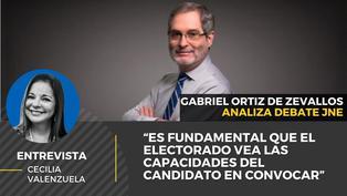 """Gabriel Ortiz de Zevallos: """"Es fundamental que el electorado vea las capacidades del candidato en convocar"""""""