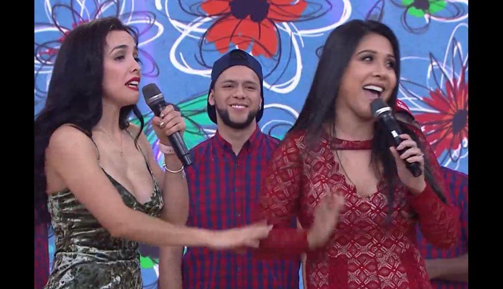 Tula Rodríguez y Rosángela Espinoza tuvieron un altercado en televisión. (Captura de TV)