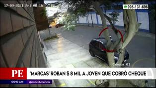 'Marcas' roban 8 mil dólares a joven que cobró cheque en el Cercado de Lima