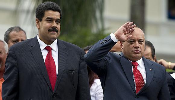 Venezuela: Nicolás Maduro y Diosdado Cabello, las cabezas del chavismo. (AFP)