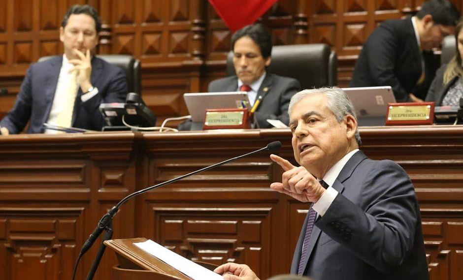 El primer ministro, César Villanueva, confió en que los congresistas respetarán los acuerdos de la Junta de Portavoces para que las reformas se aprueben antes del 4 de octubre. (Foto: Congreso de la República)