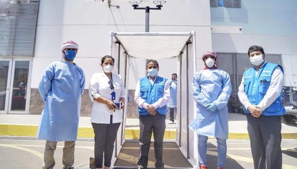 El administrador del hospital Virgen de la Puerta de Trujillo agradeció la donación del empresario árabe. (Foto: GEC)