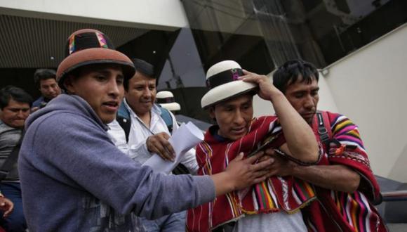 """Gregorio Rojas, afirmó que no """"se rendirá"""" hasta que la minera Las Bambas y el Estado den solución al conflicto. (Foto: Anthony Niño de Guzmán/GEC)"""
