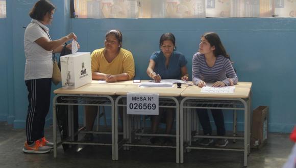La ONPE tiene previsto la instalación de  86,488 mesas de sufragio para las Elecciones Generales del 2021. (Foto referencial: GEC)