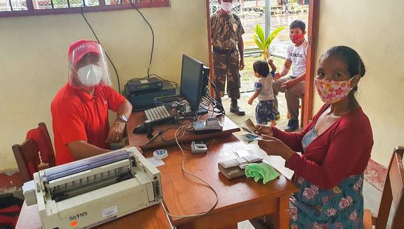 PIAS. Los pobladores accedieron a beneficios como el pago de subsidios de Pensión 65 y Juntos en las regiones Loreto y Ucayali.