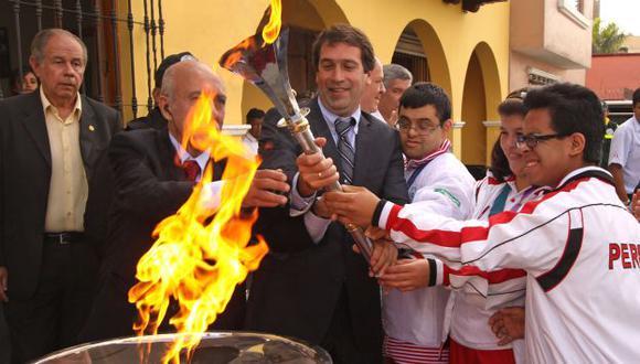 La antorcha de los Juegos Bolivarianos arribó ayer por la mañana a nuestro país. (Difusión)