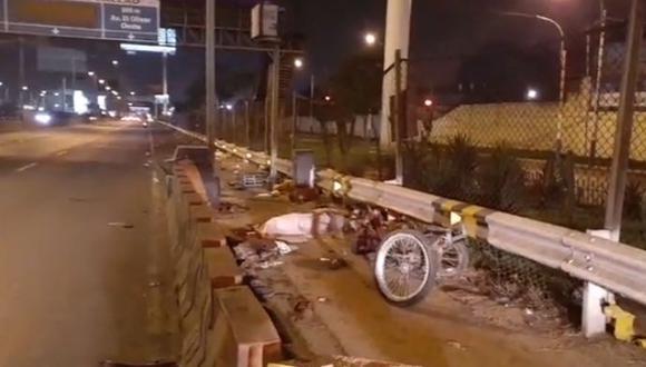 La víctima estaba a bordo de su triciclo cuando fue impactado por el vehículo pesado conducido por Santos Rafael Portocarrero Jabo.  (Foto: Facebook/Prensa Chalaca)