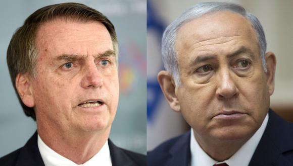 Netanyahu probablemente recortará su visita a Brasil y volverá a Israel antes de la investidura de Bolsonaro. (Foto: AFP / AP).