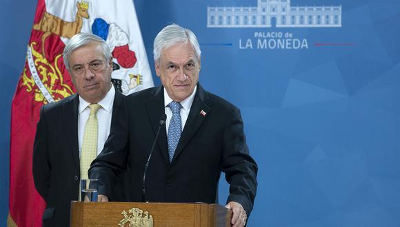 El presidente de Chile, Sebastián Piñera, durante una conferencia de prensa en Santiago para anunciar un Plan de Acción para combatir el nuevo coronavirus, COVID-19, en el país, donde se confirmó el primer caso. (Foto: AFP)